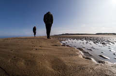 Beach walkers. (CWhatPhotos) Tags: uk blue sea portrait england sky people beach silhouette that coast march photo sand day skies foto with view image artistic photos pics ripple dunes sandy dune north silhouettes sunny pic images east have photographs photograph fotos views ripples which silhouetted contain hartlepool containing crimdon cwhatphotos