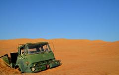 Stuck (Neal J.Wilson) Tags: truck bedford sand desert stuck middleeast lorry arabia oman wahiba