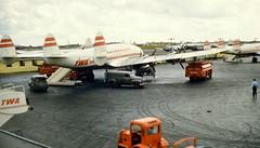 Chicago Midway Airport - TWA - Lockheed Constellation (049) (twa1049g) Tags: chicago airport 1956 midway lockheed twa constellation 049 n86502