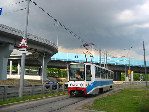 Moscow tram 71-608K 4045
