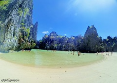 Hidden Beach (charizsa timkang) Tags: sky sunrise island photography philippines secretbeach blues sunsets beaches hiddenbeach elnido beachbum palawan bestshots beachphotography papayabeach beautifuldestinations snapseed phonto itsmorefuninthephilippines