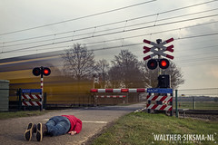 WS20160306_7543 Week 10/52 Waiting for the red light (Walther Siksma) Tags: selfportrait holland me train self waiting zelfportret trein selfie gelderland facedown 2016 putten planking overweg 52pics project52 52wsp walthersiksma 52weeksthe2016edition creatiefzelfportret