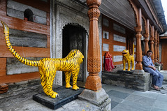 A Tiger, or Two, by their Tails (Anoop Negi) Tags: family sculpture india project river temple photography photo power kali tiger tail religion royal doorway impact anoop himachal pradesh negi satluj rampur bhim sutlej ezee123 bhimakali bhimkali bushair
