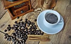 Time to enjoy (khalid almasoud) Tags: stilllife black home coffee wooden flickr sony bin estrellas espresso grinder grindery 1650mm sonya5100 ilce5100