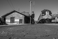 """City Of Grenada"" (Rolling Rail Productions) Tags: railroad blackandwhite train mississippi ic pacific trains iowa grenada passenger nrhs holdings"