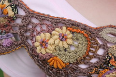 Freeform Shrug (laughingpurplegoldfish) Tags: crochet creative cotton swap shrug freeform mapstone