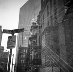 public alley 435 (postylem) Tags: boston kodak doubleexposure massachusetts trix 400tx agfa isolette r5 tf5 photographersformulary monobath new55