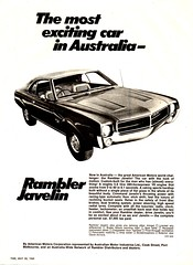1969 Rambler Javelin Sport Coupe American Motors AMC Australian Motr Industries AMI Aussie Original Magazine Advertisement (Darren Marlow) Tags: 1 6 9 19 69 1969 r rambler j javelin s sport c coupe a american motors amc m australian i industries car cool collectible collectors classic automobile v vehicle u us usa united states america 60s