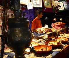 Our treat stall (Jackie & Dennis) Tags: spain murcia cartagena baklava medievalmarket rwh ramblersworldwideholidays