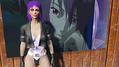 Ghost in the Shell General Motoko (Beth Amphetamines) Tags: wallpaper black leather outfit screenshot general lol thing ghost shell gits suit jacket gloves thong inthe onepiece suitable nota kusanagi fingerless motoko fallout4