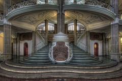 Speculum Gradus (Hitman.47 (BuriedDreams.nl)) Tags: old windows colour green castle beautiful architecture fairytale stairs mirror hall stair flickr cathedral exploring great columns engineering palace forbidden explore artnouveau atrium imaginary grandeur symmetrie