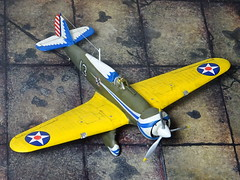 "1:72 Boeing P-32 ""Gale"", aircraft '13' of the 34th Pursuit Squadron, 17th PG, United States Army Air Corps (USAAC); March Field, California, 1936. (Whif/Airfix kit conversion) (dizzyfugu) Tags: yellow army thirties wings wasp conversion aviation air united hurricane wwii olive twin pre corps p32 23 states boeing karas hawker drab 172 radial fictional whatif modellbau usaaf p12 peashooter pzl whif p26 usaac dizzyfugu spakt"
