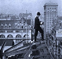 News Photographer over 5th Ave. by Underwood & Underwood - 1921 (SSAVE w/ over 5 MILLION views THX) Tags: newyorkcity rooftop dangerous 5thavenue 1921 risky newsphotographer