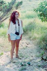 Jessica (A Screaming Comes Across the Sky) Tags: portrait film girl analog 35mm pentax k1000 superia redhead 400 fujifilm analogue xtra