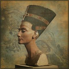 Nofretete (violscraper) Tags: ancient egypt queen bust egyptian papyrus relic nofretete pareeericastextureextravaganza