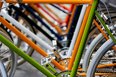 Spring has Sprung (MarkL87) Tags: nyc colors patterns bikes tires pedals tokyobikes