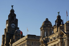 The Royal Liver Building and surrounding area (Chris Dimond) Tags: statue liverpool liverbirds liverbuilding royalliverbuilding 2015