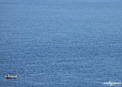 immensit (archgionni) Tags: blue sea nature water relax boats mare waves fishermen blu dream natura acqua onde sogno immensity pescatori totalphoto immensit peopleenjoyingnature