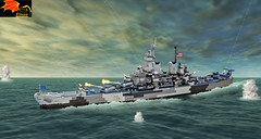 Battleship Missouri - Announcement! (Enon) Tags: world new storm cold wisconsin america japanese us big model war gulf desert lego kentucky united navy korea iowa class 63 mo vietnam missouri soviet jersey second guns okinawa kit 16 harpoon states battleship nautical bb bismarck yamato warship surrender iwo jima musashi tomahawk warships bofors phalanx bb63 tirpitz modelism 406mm worldofwarships