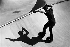 can't escape your shadow (bostankorkulugu) Tags: sweden cap skatepark skate malm rollerblades earphones bryggeriets bryggerietsskatepark