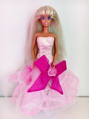 FOR SALE: 1988 Pearly Princess Sindy Doll (Hasbro) (The Barbie Room) Tags: pink fashion ball doll dress princess 1988 barbie blond bow blonde pearl gown clone 1980s pearly hasbro sindy