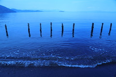 Shore (Teruhide Tomori) Tags: lake water japan landscape shore  japon shiga biwalake imazu  takashima