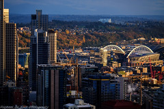 Seattle Evening Skyline (Raphael de Kadt) Tags: seattle cityscape