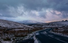 Winding (plot19) Tags: road uk sunset england snow english landscape photography nikon mood britain yorkshire north british northern dales plot19