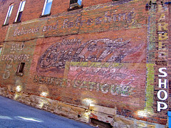 Coca-Cola Ghost Sign, DuBois, PA (Robby Virus) Tags: brick sign shop wall advertising pennsylvania painted ghost ad coke faded barber signage cocacola dubois