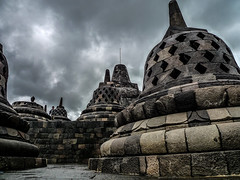 Borobudur temple (thierryhaphotosvoyages) Tags: voyage trip travel viaje indonesia temple java asia buddha south buddhism east asie borobudur sud est sudeste indonsie boudhisme cloches
