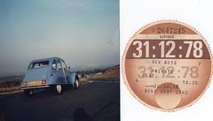 1978 Citroen 2CV6, my car 1977-1978 + tax disc (andreboeni) Tags: auto classic cars car french automobile citroen voiture retro 2cv oldtimer autos ente automobiles voitures francais automobili classique deuxchevaux taxdisc deuche