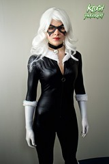 IMG_8730 (Neil Keogh Photography) Tags: white black female blackcat comics mask boots cosplay gloves wig cosplayer collar marvel zip marvelcomics jumpsuit manchesteranimegamingcon2016