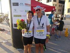 Mazi me tin Maria meta ton termatismo - 1 (illrunningGR) Tags: greece races halfmarathon volos marbie illrunning