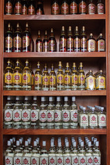 A lot more of My Favourite Thing (hectordotlee) Tags: travel vertical shop bar canon shopping bottle display havana cuba drinking tourist ron drinks alcohol trinidad rum local shelves cupboard havanaclub 500d canon500d sanctispritus