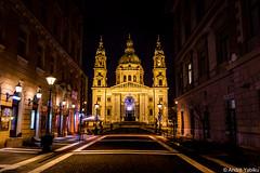 St. Stephen's Basilica - Budapest (Andre Yabiku) Tags: church night europa europe hungary budapest hu ststephensbasilica yabiku andreyabiku