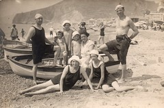 Finale Ligure (Savona) - Bagnanti anni 30 (dpf1958 collector photo) Tags: finale ligure savona bagnanti