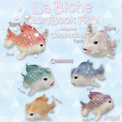 StoryBook Fish @ The Gacha Garden (La Biche SL) Tags: life fish cute garden la 3d pretty pastel adorable sl fantasy kawaii second blender unicorn the zbrush biche gacha
