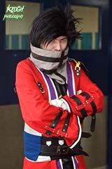 IMG_8355 (Neil Keogh Photography) Tags: white black anime male silver gold belt purple mask cosplay coat manga jacket cape cosplayer greay strapsred manchesteranimegamingcon2016