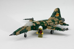 VNAF F-5E (ModernBrix) Tags: family light plane french design us flickr fighter force lego aircraft air jet camo vietnam soviet build f5 pilot 1950 moc f5e vnaf modernbrix
