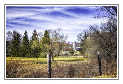 Barn by Walden NY (jsleighton) Tags: trees sky field barn fence landscape farm silo posts