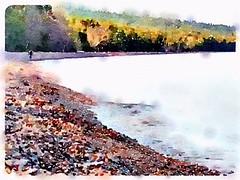 morning on Great Sand Bay (chris bliss6) Tags: michigan upperpeninsula lakesuperior waterlogue