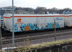 Tawl , Reez (Select1200) Tags: railroad chicago graffiti trains freights fr8 benching