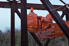 Rail Bridge Inspection (VTrans - Vermont Agency of Transportation) Tags: bridge vermont inspection rail aspen vt montpelier aerials snooper vtrans vermontagencyoftransportation