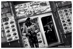 Aggressive ethnic burger (alberto pizzoli) Tags: street city people urban blackandwhite italy rome cityscape urbandecay citylife streetphotography urbanexploration ita streetphoto urbanscene