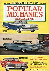 The 1959 New Cars (aldenjewell) Tags: new cars ford chevrolet sport magazine plymouth impala popular fury galaxie mechanics 1959