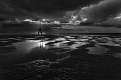 Cloudy Sunset (tabulator_1) Tags: sunset blackwhite crosby crosbybeach