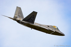 F-22 departs Lakenheath (DrAnthony88) Tags: uk england suffolk fighter aircraft aviation raptor transformers planes stealth f22 usairforce lockheedmartin 5thgeneration raflakenheath nikond810 modernmilitary nikkor200400f4gvrii