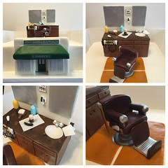 Barbershop Cake (dms81) Tags: station cake shop mirror chair barbershop barber clipper razor jimmys fondant gumpaste jimmysbarberandbeautyshop