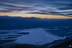 Dante's View of Badwater Basin (lycheng99) Tags: california sunset sky panorama mountains color nature clouds landscape nationalpark colorful view dusk bluesky deathvalley saltflats dantes badwater deathvalleynationalpark dantesview panoramicview dantespoint