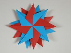 Double 8 pointed star (Mlisande*) Tags: star origami modular mlisande